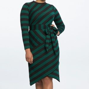 ELOQUII striped dress with tulip skirt - size 18